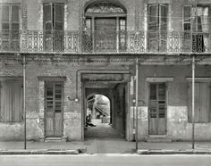 """New Orleans circa 1937. """"Courtyard entrance, 1133-1135 Chartres St."""""""