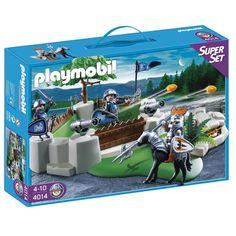 Bastión de los Caballeros Super Sets Playmobil *Hasta agotar existencias* ¡La batalla ha comenzado! Defiende el bastión a toda costa, ¡hay un tesoro escondido en él!