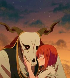 """ruricho: """" I thought I should share some recent drawings I made about Chise and Elias since they are both my favourite characters and I think they are kind of cute together as well. I tried making. Anime Drawing Styles, Manga Drawing, Couples Cosplay, Anime Couples, Ghibli, Elias Ainsworth, Chise Hatori, Tamako Love Story, The Ancient Magus Bride"""