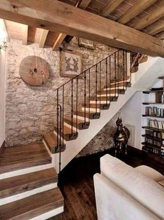 Basement Flooring Ideas - Choosing the right flooring has different rules in a b. - Basement flooring - Basement Flooring Ideas – Choosing the right flooring has different rules in a basement than it d - Basement Renovations, Home Renovation, Basement Ideas, Best Flooring For Basement, Modern Basement, Rustic Stairs, Wood Stairs, Basement Stairs, Farmhouse Stairs