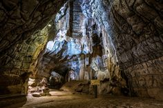 The Sudwala Caves in Mpumalanga, South Africa, are set in Precambrian dolomite rock, which was first laid down about 3800 million years ago, when Africa was still part of Gondwana. The caves themselves formed about 240 million years ago. Cave Entrance, Dinosaur Park, Over The Bridge, Winding Road, After Dark, Tour Guide, Geology, To Go, Old Things