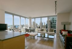 New York, New York …The city is at the foot of this apartment so the furniture is only secondary to the view. Done beautifully and elegantly. Baker Knapp and Tubbs. Maha Jano Interiors Maha Jano - Troy, MI