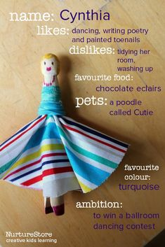 Creative writing for kids using a simple peg doll craft
