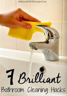 Stop spending so much time in the bathroom. Save time with these easy bathroom hacks! 7 Brilliant Bathroom Cleaning Hacks!
