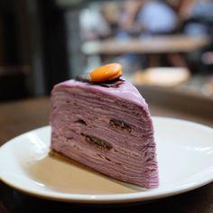 Ube is purple sweet potato that often mistakenly called taro. by calibrecoffeeroasters Ube Recipes, Cupcake Recipes, Baking Recipes, Opera Cake, Griddle Cakes, Purple Sweet Potatoes, Crepe Cake, Filipino Desserts