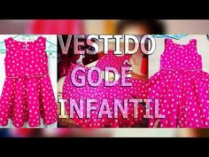 Costurando Vestido Godê Infantil - YouTube