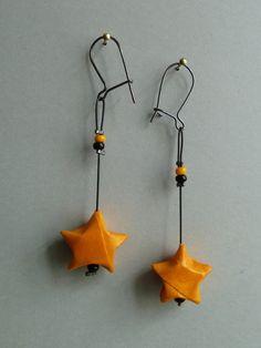 Sterne Origami Ohrringe  von Claire's Origami auf DaWanda.com