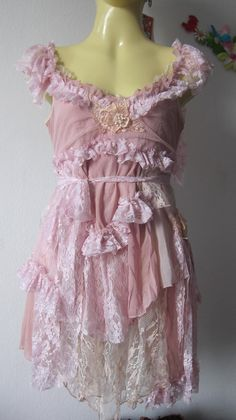 vintage inspired fairy top with shabby chic look..... $60.00, via Etsy.