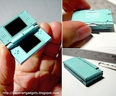 Check out this tiny papercraft model of an ice blue Nintendo DS Lite created by a really dedicated (and really patient) gaming fan. Geek Crafts, Doll Crafts, Diy Doll, Diy And Crafts, Miniature Crafts, Miniature Food, Miniature Dolls, Do It Yourself Upcycling, Crea Fimo