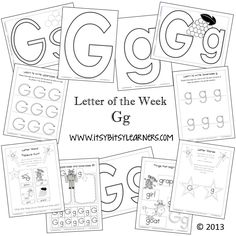 Letter G Preschool Printables (from Itsy Bitsy Learners)