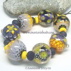 "Anastasia Lampwork Beads 7 ""Jardin"" SRA   eBay"