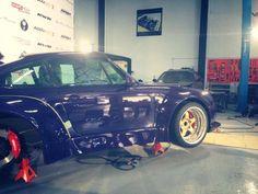One wheel is on! - June 5, 2013  #rwbmanila #rauhweltbegriff #carpornracing #porsche #993