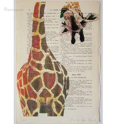 Giraffes read upside down
