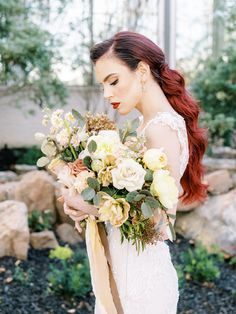 Stunning Fall Florals Wedding Inspiration – Amy Odom Photography – Brighton Abbey – Bridal Musings 43