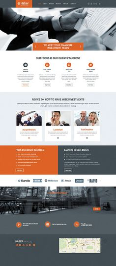 Template 55458 - Haber Business  Responsive Website Template