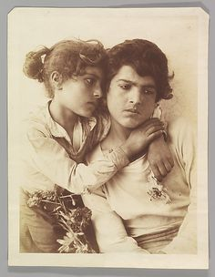 Wilhelm von Gloeden (Italian, born Germany, 1886–1931). [Two Children], ca. 1900. The Metropolitan Museum of Art, New York. Gilman Collection, Museum Purchase, 2005 (2005.100.1138) #kids #metkids