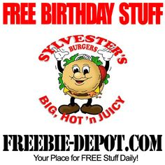 FREE BIRTHDAY STUFF – Sylvester's Burgers - FREE BDay Burger