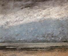 Gustave Courbet — Beach near Trouville, 1865. Wallraf-Richartz-Museum, Cologne