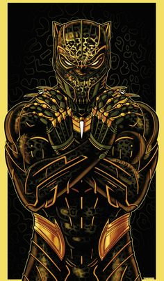 Golden Jaguar (Killmonger) Part of my new ICON series. Black Panther Marvel, Black Panther Art, Deadpool Wallpaper, Avengers Wallpaper, Marvel Art, Marvel Heroes, Golden Jaguar Marvel, Marshmello Wallpapers, Best Gaming Wallpapers