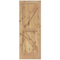 Steves & Sons 2-Panel Barn Door Solid Core Unfinished Knotty Alder Interior Door Slab - J74JKNNNAC99 at The Home Depot