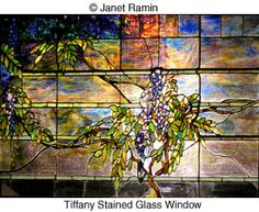 stained glass tiffany bay widow at his house - Google Search
