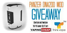 Panzer DNA 200 Mod Giveaway - http://vapingcheap.com/panzer-dna-200-mod-giveaway/