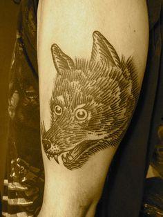 wolf by lyam, via Flickr / Black tattoo / ink