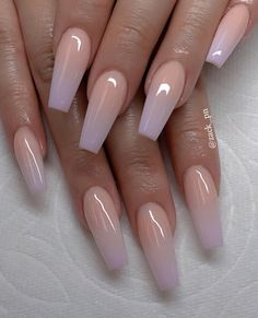 Chic ombre coffin nails designs in summer - acrylic nails - Nagel Design Fabulous Nails, Gorgeous Nails, Amazing Nails, Gorgeous Makeup, Perfect Nails, Stylish Nails, Trendy Nails, Classy Gel Nails, Classy Acrylic Nails