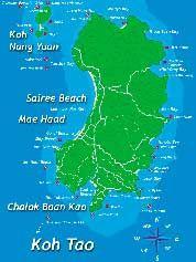 Thailandia Cartina Geografica.Koh Tao Cartina Geografica Tailandia E Spiagge