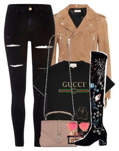 """Halsey-Inspired #343"" by halseys-clothes ❤ liked on Polyvore featuring Yves Saint Laurent, River Island, Gucci, Christian Dior, Tiffany & Co., Valentino, halsey, ashleyfrangipane, halseymusic and halseyinspired"