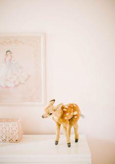 Soft peach vintage girl's nursery by Well Worn Co. | 100 Layer Cakelet #spruceshop
