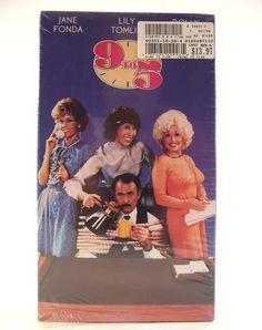 9 to 5 Nine to Five VHS 1992 Comedy PG Video Cassette Funny Movie Film Dolly Parton Jane Fonda Lily Tomlin Dabney Coleman Farce NTSC #35E by AdriennesAtticStore on Etsy