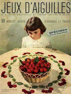 Jeux d'aiguilles n°8  Ultimo numero di una rivista francese anni 50.... la bimba in copertina non ricorda un po' quella del film Amélie? ;-) http://www.youtube.com/watch?v=ILC1wDPjlFA