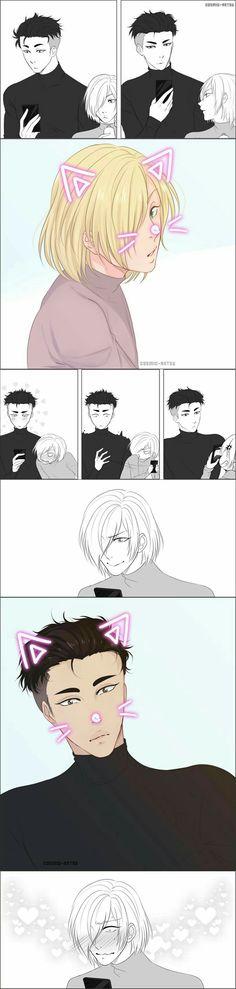 Otabek Altin x Yuuri Plisetsky / Yuri! On Ice Art Manga, Manga Anime, Yurio And Otabek, Tous Les Anime, Tsurezure Children, Yuri On Ice Comic, Comic Anime, Yuri Katsuki, ユーリ!!! On Ice