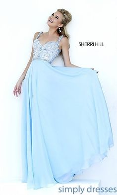 Sweetheart Long Beaded Prom Dress Sherri Hill 1933 at SimplyDresses.com