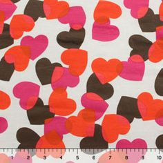 Hearts on Cream Cotton French Terry Knit Fabric  - Girl Charlee sometimes has interesting sweatshirt-type fabrics in stock too.