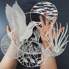 Paper cut by Pippa Dyrlaga (England)