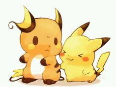 Rychu and Pikachu