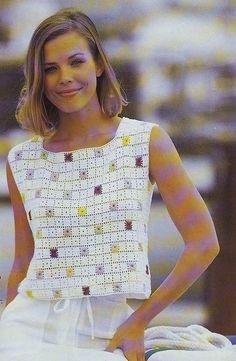crochet granny square fashion