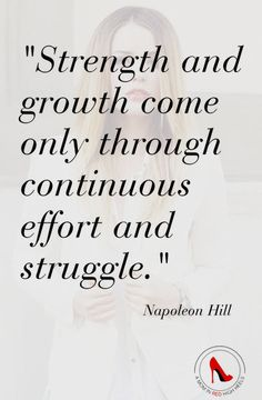 You may be tired of the struggle but without it, you won't have growth. Hang in there, you can do this!
