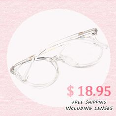 This pair of round, clear frame is what's in this season's fashion scene.