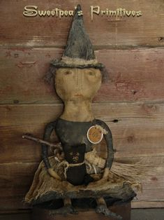 Hey, I found this really awesome Etsy listing at https://www.etsy.com/listing/209318733/primitive-folk-art-salem-witch-doll-and