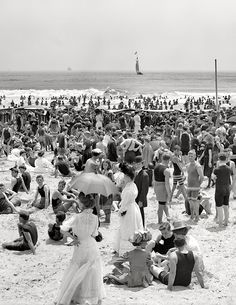 Circa 1910. Atlantic City, N.J. - the bathing hour.