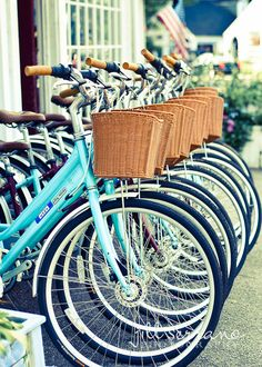 bicycles with baskets