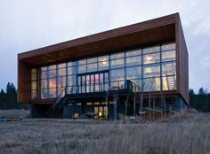 Canadian architect Marc Boutin designed the Frame House in Invermere, British Columbia, Canada.