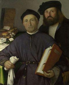 Lorenzo Lotto(1480–1556)   The Physician Giovanni Agostino della Torre and his Son, NiccolòMediumoil on canvasDimensionsHeight: 85 cm (33.5 in). Width: 68.2 cm (26.9 in).Current location  National Gallery