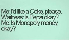 For all the coke lovers out there, we know pepsi is not okay!!!