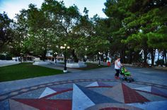 Stroll at the central square in Skala Central Square, Favorite Holiday, Greece, Holidays, Summer, Greece Country, Holidays Events, Summer Time, Holiday