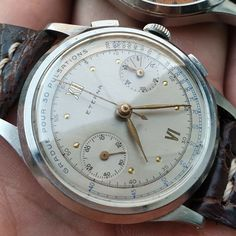 Eterna chronograph vintage valjoux 22 medical nos conditions oversize Omega Watch, Chronograph, Conditioner, Medical, Vintage, Ebay, Tech, Stuff To Buy, Watches