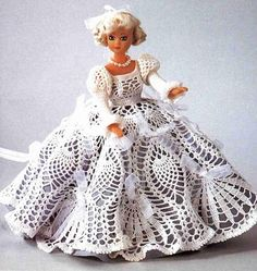 Wedding dress for Barbie with diagram